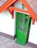 绿色门 免版税库存图片