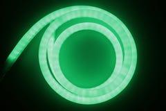 绿色闪亮指示导致光 免版税库存图片
