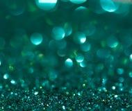绿色闪烁背景 库存照片