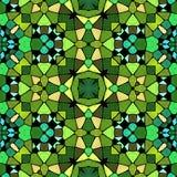 绿色阴影万花筒,无缝的纹理 皇族释放例证