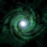 绿色隧道漩涡 库存照片