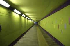 绿色隧道 库存照片