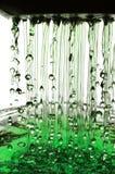 绿色雨 库存照片