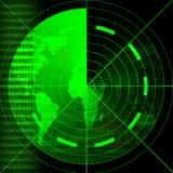 绿色雷达网 免版税库存照片