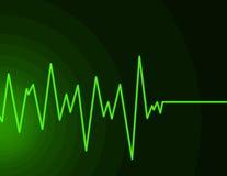 绿色霓虹无线电波 免版税库存照片