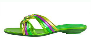 绿色鞋子 库存照片