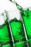 绿色飞溅 免版税库存图片
