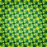 绿色马赛克模式星形 库存图片