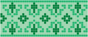 绿色马赛克 免版税库存照片