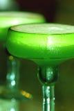绿色鬣鳞蜥玛格丽塔酒 免版税库存图片