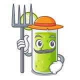 绿色黄瓜农夫字符新鲜的汁液  库存例证