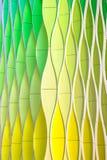 绿色黄色和银挥动的曲线 库存图片