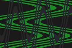 绿色,暗色公平的背景波浪!独特,例外,非凡,卓著,惊奇,卓著的背景! 向量例证