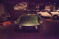 绿色1962年法拉利Superamerica小轿车Aerodynamica 库存图片