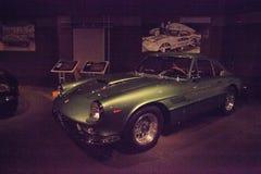 绿色1962年法拉利Superamerica小轿车Aerodynamica 图库摄影