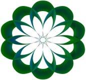 绿色&浅兰的圆的传染媒介 库存照片