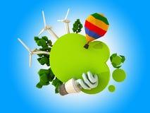 绿色eco片剂 免版税库存图片