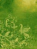 绿色grunge墙纸 免版税库存照片