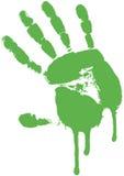 绿色grunge掌上型计算机 库存图片