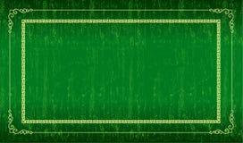绿色grunge框架 免版税库存照片