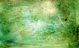 绿色grunge绘画 免版税库存照片