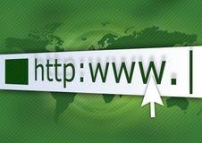 绿色http 免版税图库摄影