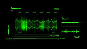 绿色HUD声音录音接口图表元素 向量例证
