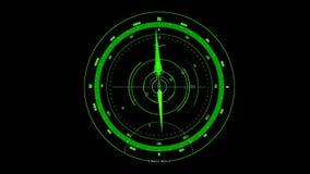 绿色HUD照相机接口行动图表元素V2