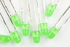 绿色LEDs 图库摄影