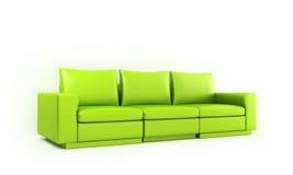 绿色moder沙发样式 库存例证