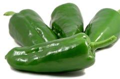 绿色papricas 免版税库存照片