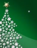 绿色snowflaketree白色 库存图片