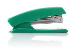 绿色stepler 免版税库存图片