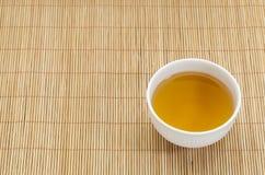 绿茶杯子 免版税图库摄影