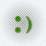 绿草微笑3D 兴高采烈的象草的象被隔绝的白色透明背景 概念许多生态的图象我的投资组合 愉快的微笑的标志 库存照片