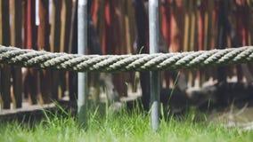 绿草,被舒展的绳索 图库摄影