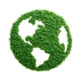 绿草eco被隔绝的行星地球 免版税图库摄影
