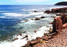 缅因大西洋海岸视图 库存照片