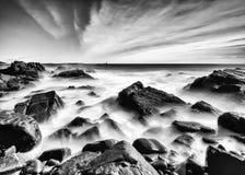 缅因海岸线 图库摄影