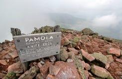 缅因pamola峰顶 库存图片