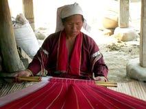 缅甸。 Palaung部落夫人 库存照片