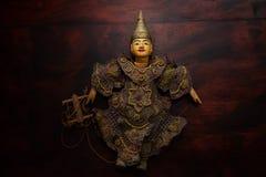 缅甸串起木偶玩具纪念品 库存照片