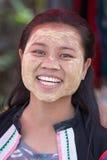 缅甸女孩在泰国 免版税库存图片