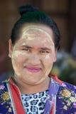 缅甸女孩在泰国 库存图片