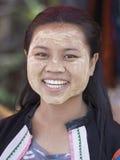 缅甸女孩在泰国 库存照片