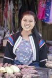 缅甸女孩在泰国 免版税图库摄影