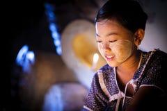 缅甸女孩 库存照片