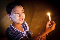 缅甸女孩 库存图片
