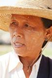 缅甸妇女画象 库存照片