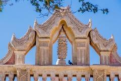 缅甸寺庙的顶部在Bagan 免版税库存照片